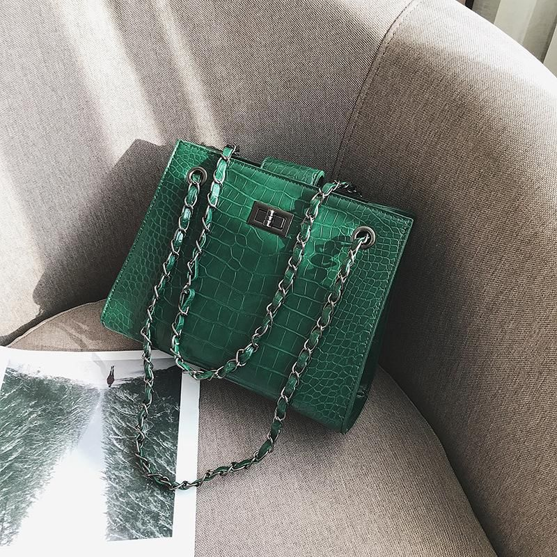 Bag female large capacity new crocodile pattern shoulder bag chain Messenger bag tote bag NHTC172786