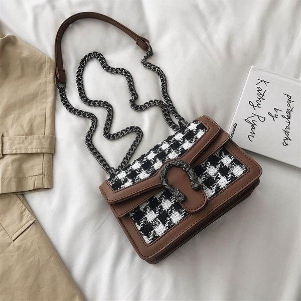 Fashion bag woolen chain bag female new shoulder Messenger bag NHTC172793