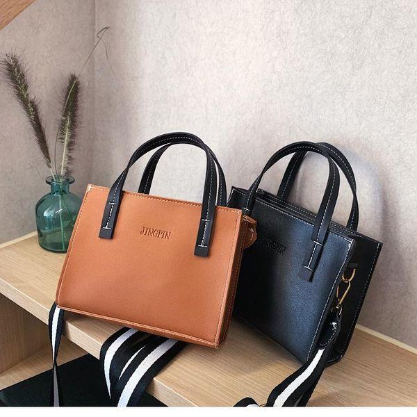 Women's bag new portable tote bag casual solid color net shoulder Messenger bag NHXC172621