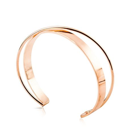 Fashion simple bracelet copper open double solid bracelet NHDP172922's discount tags