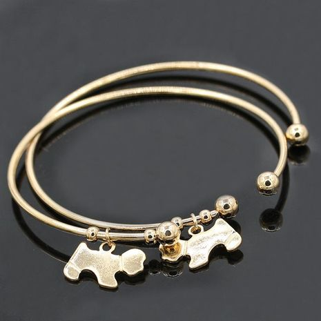 Fashion shiny puppy alloy bracelet NHDP172923's discount tags