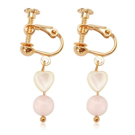 Korean version of Korean wind without pierced resin love long ear clip NHDP172931's discount tags