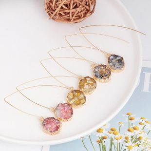 Creative retro color Epoxy cluster crystal drop ear studs NHJJ173057's discount tags