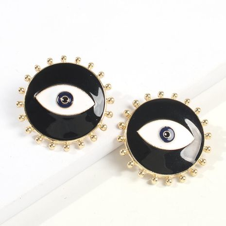 European and American Creative Devil's Eye Alloy Drop Earrings NHMD173030's discount tags