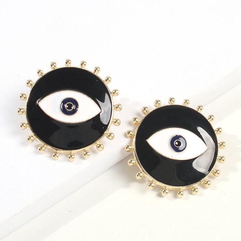 European and American Creative Devil's Eye Alloy Drop Earrings NHMD173030