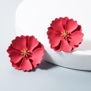 Paint flower earrings female multi-colored alloy accessories earrings NHLN172907