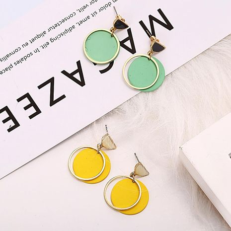New color creative cute sweet circle earrings NHPJ173114's discount tags
