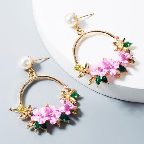 Flower earrings, women's pearl earrings, trend earrings NHLN172908's discount tags