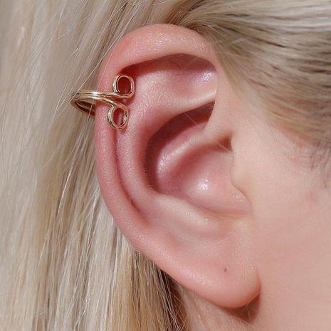 European and American metal simple earrings retro port wind ear clip NHDP172914's discount tags