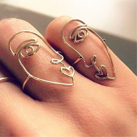 New create alloy face ring fashion simple ring NHPJ173103's discount tags