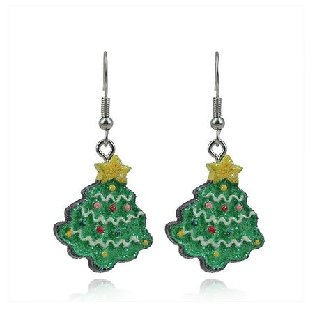New cute cartoon color Christmas tree gift earrings NHKQ172842's discount tags