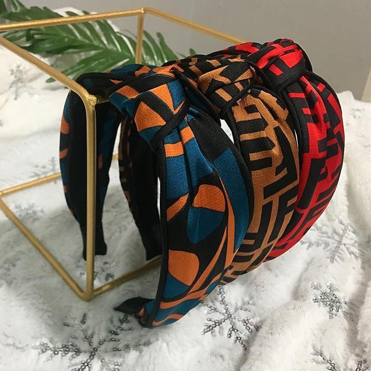 Fashion fabric headband wide side middle knot wash hair accessories headband NHRH173151