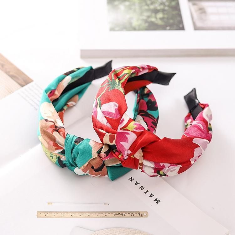 Floral fabric knotted headband new hairpin women NHRH173153