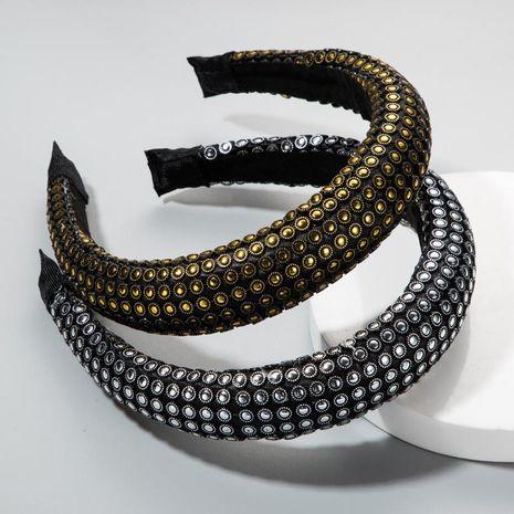 Europe and the United States wide-brimmed headband female super flash fabric thick sponge headband female creative NHLN172901's discount tags