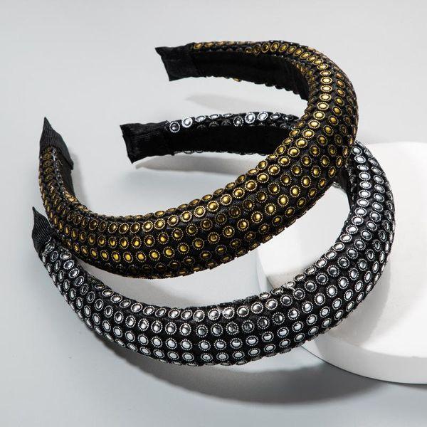 Europe and the United States wide-brimmed headband female super flash fabric thick sponge headband female creative NHLN172901