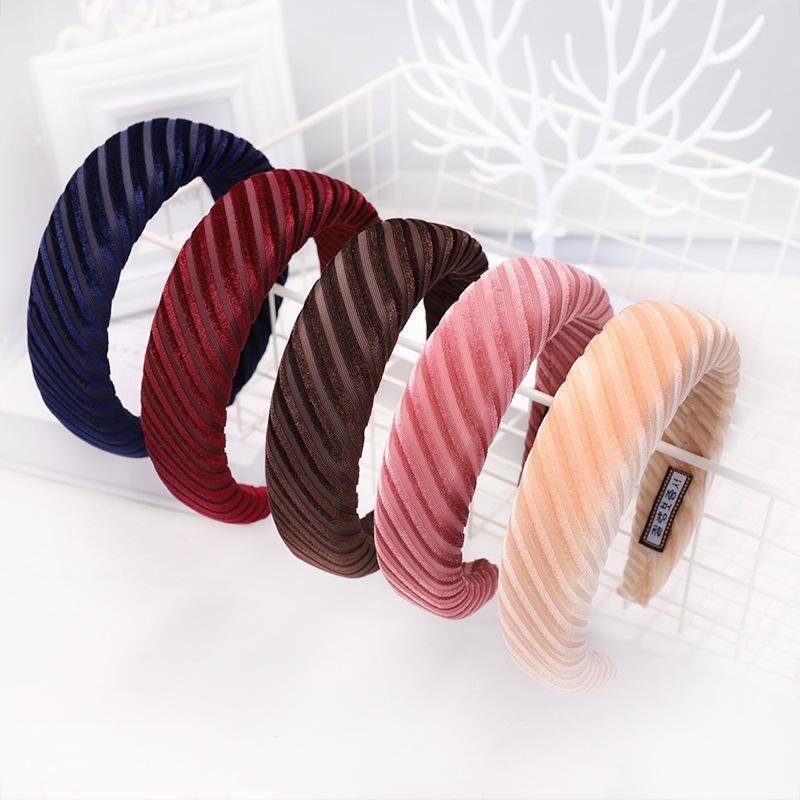 New hot velvet solid color sponge headband head buckle fashion wild ladies headband NHDM173136