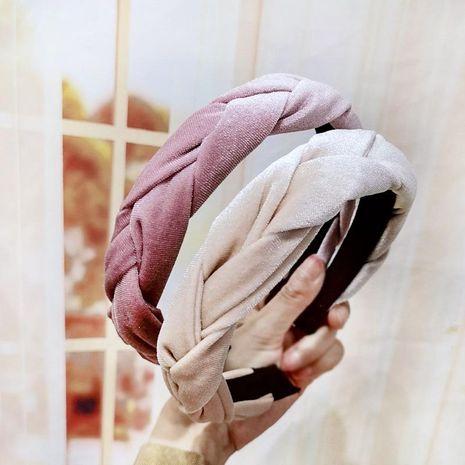 Diadema para la cabeza diadema de terciopelo dorado hebilla trenzada hebilla para la cabeza diadema de terciopelo NHDM173140's discount tags