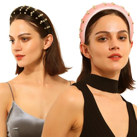 Headband thick sponge with diamond hair accessories fashion NHMD173036's discount tags