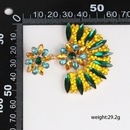 52790 Jujia new European and American personality geometry half fanshaped mosaic glass earrings exaggerated big crossborder supply NHJJ173051