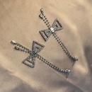 Earrings simple creative bow long tassel earrings with diamonds NHWF172997