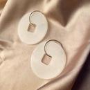 Stud earrings womens dressing earrings round hollow small fragrance earrings NHWF173006