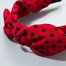Hair accessories bow rabbit ears sweet fabric simple headband wide side wave point headband female NHLN172894