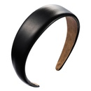 Headband female simple artificial leather multicolor glossy widebrimmed headband Christmas Europe and the United States headdress NHLN172903