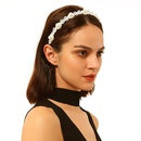 Headband hair accessories new handmade beaded imitation pearl crystal flowers NHMD173039