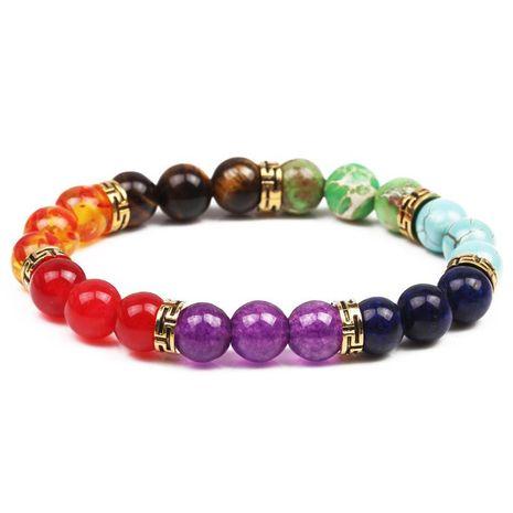 Bracelet de yoga d'énergie de chakra coloré en pierre naturelle bracelet de bracelet de 8 mm NHYL173502's discount tags