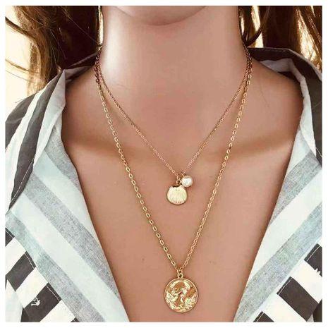 Collar con colgante de concha de moneda avatar hembra NHCT173197's discount tags