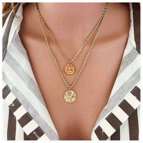 Colgante de aleación de torre Simple Street Shoot Multicapa Collar Mujer NHCT173214's discount tags