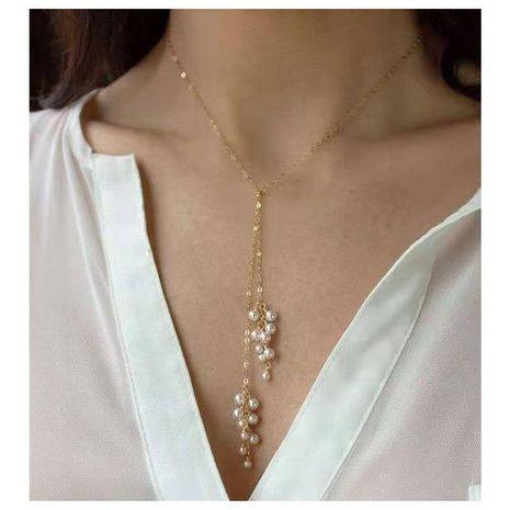 Collar corto de perlas de imitación en forma de flor salvaje de temperamento de moda NHCT173218's discount tags