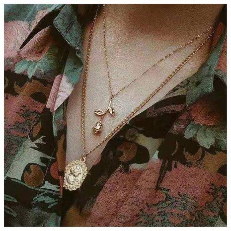 Joyería personalidad tendencia de múltiples capas de aleación de metal collar colgante de flores mujer NHCT173220's discount tags