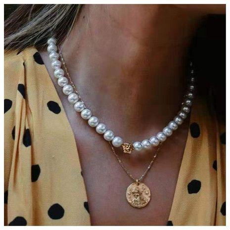 Accesorios de personalidad retrato aleación collar colgante femenino NHCT173224's discount tags
