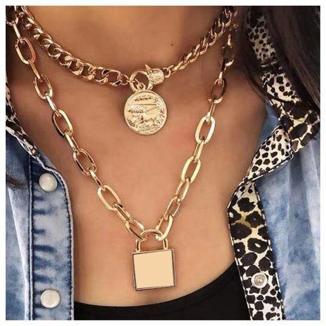 Artículo fashion pop wild collar de bloqueo de cadena de metal de múltiples capas femenino NHCT173226's discount tags