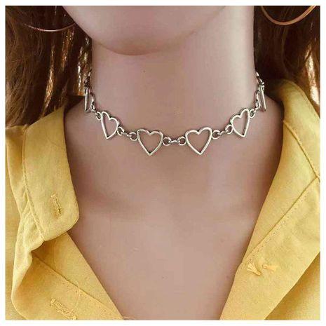 Cadena hueca en forma de corazón personalidad geométrica creativa hecha a mano collar femenino NHCT173234's discount tags