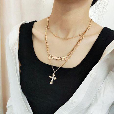 Collar de letras en inglés de Creative Fashion Cross NHNZ173389's discount tags