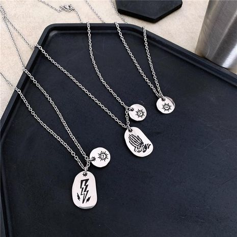Collar rayo sunhip collar de acero inoxidable NHYQ173295's discount tags