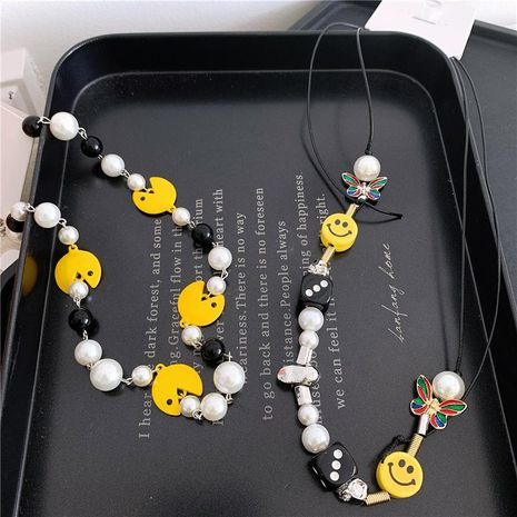 Sweater chain braid smiley cartoon clavicle chain NHYQ173298's discount tags