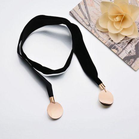Colgante de oblea collar de terciopelo collar de ajuste libre NHBQ173339's discount tags
