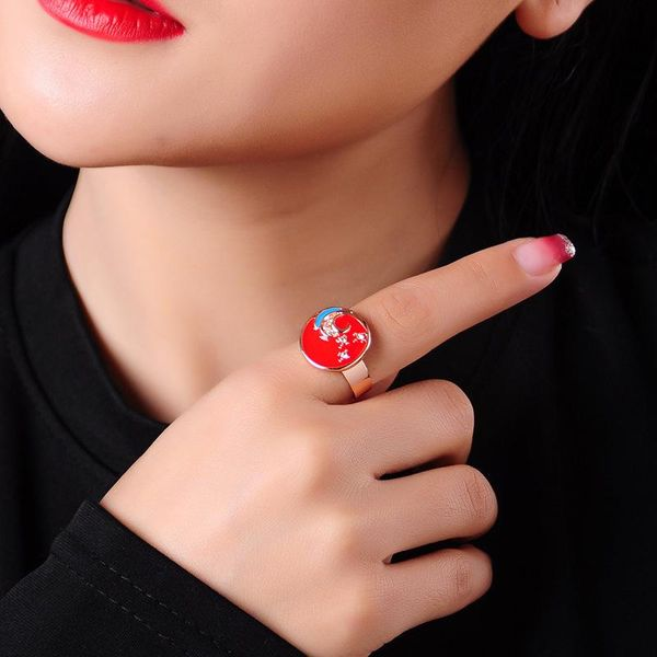 Jewelry fashion new crystal diamond ring wild hip ring female NHQD173496