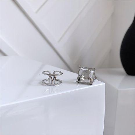 Bague femme lettre ouverture réglable cristal de haute qualité transparent boîte NHYQ173312's discount tags