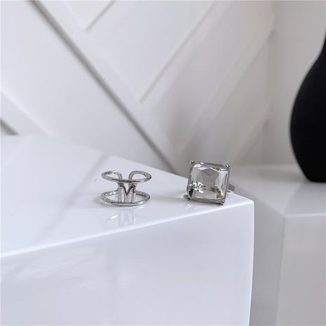 Ring female letter opening adjustable high quality transparent crystal box NHYQ173312's discount tags
