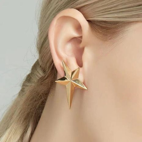 Earrings simple ear piercing metal wind five-pointed star ear clips without pierced female allergy NHYQ173279's discount tags