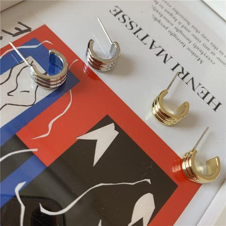 Trendy new temperament metal earrings NHYQ173292's discount tags