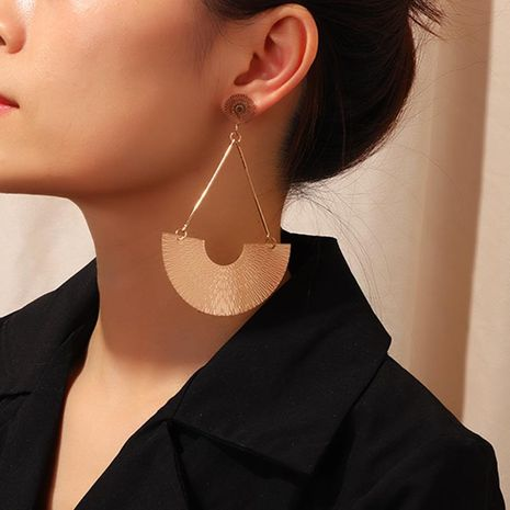 Fashion classic fan-shaped earrings earrings female creative high quality U-shaped earrings NHNZ173363's discount tags