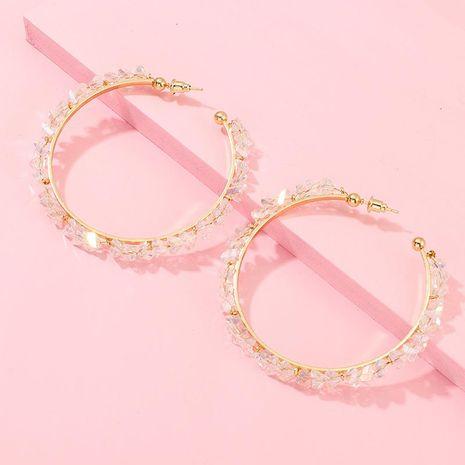 Jewelry Circle Ring Earrings Crystal Ear Earrings Women's NHNZ173377's discount tags