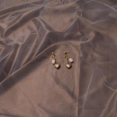 Pendientes largos con flecos de madera pendientes geométricos hipoalergénicos de color de contraste pendientes retro chicas pendientes finos pendientes NHWF173332's discount tags