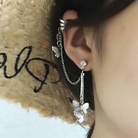 Fashion earrings butterfly earrings silver ear bone clip one NHNZ173345's discount tags