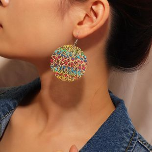 Jewelry fashion creative paint painted earrings female creative ethnic wind hollow earrings NHNZ173368's discount tags